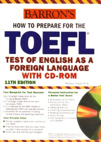 Image of How to prepare for the TOEFL: test of english as a foreign language