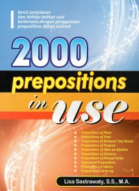 Image of 2000 Prepositions in Use